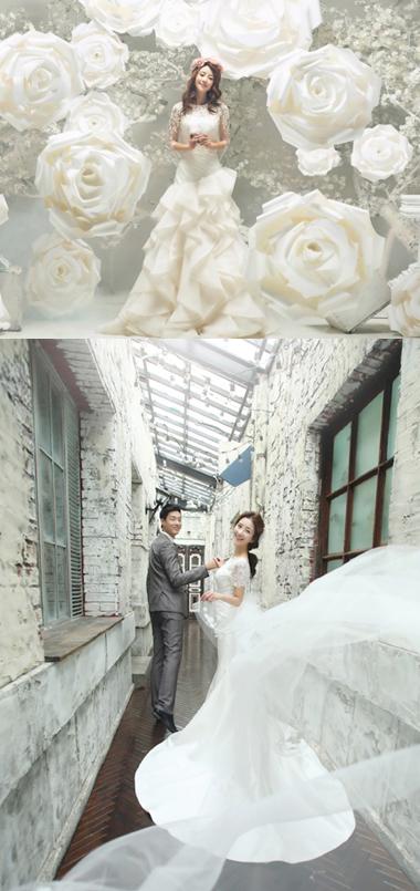ブライダル写真を格安料金で韓国のアジェリーナ