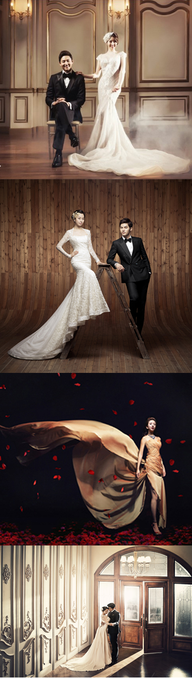 前撮りの結婚写真は韓国のアジェリーナ